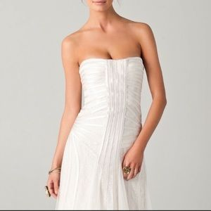 BCBG MAXAZRIA Magnolia Gown Long White Dress